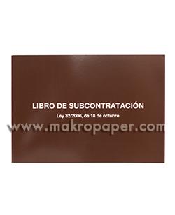 Libro de subcontratación Euskera/Castellano