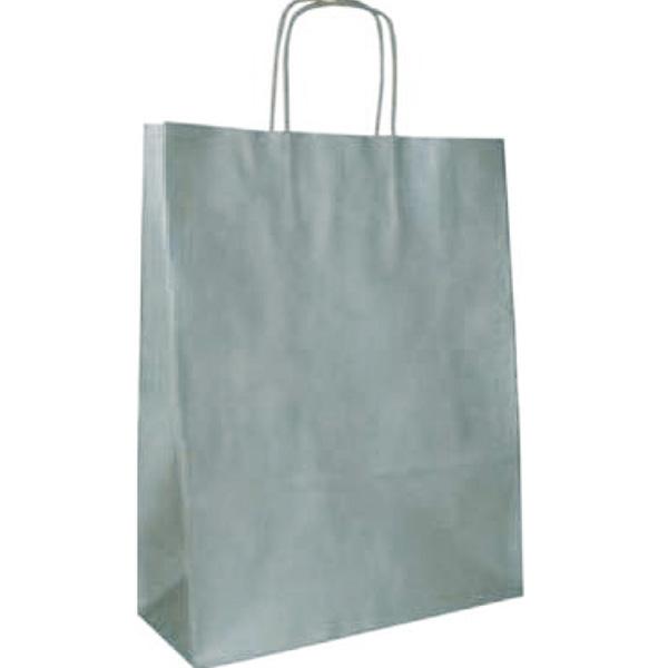 Bolsa de papel Kraft Plata pequeña (paq 25u)