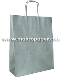 Bolsa de papel Kraft Plata mediana (paq 25u)
