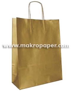 Bolsa de papel kraft Oro grande (paq 25u)