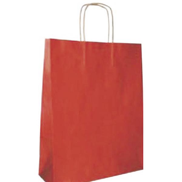 Bolsa de papel kraft rojo pequeña (paq 25u)