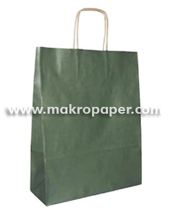 Bolsa de papel kraft Verde mediana (paq 25u)