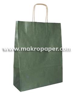 Bolsa de papel kraft Verde grande (paq 25u)