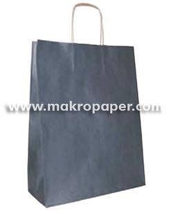 Bolsa de papel kraft Azul marino grande (paq 25u)