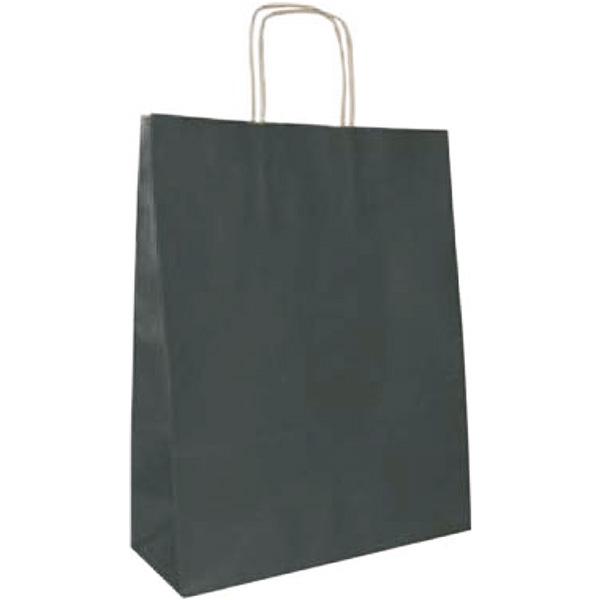Bolsa de papel kraft Negra pequeña (paq 25u)