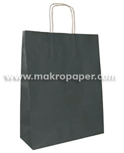 Bolsa de papel kraft Negra mediana (paq 25u)