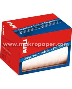 Etiquetas adhesivas en rollo Apli 34x53