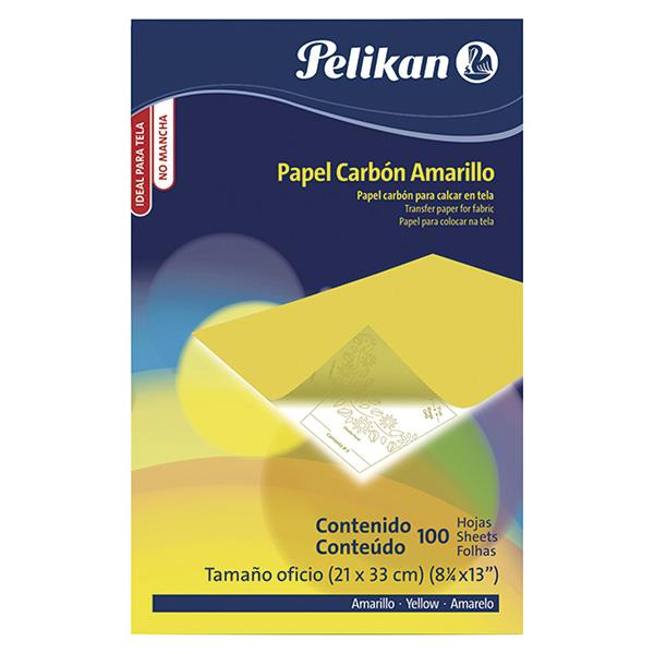 Papel carbón Pelikan amarillo Tela Folio 100h