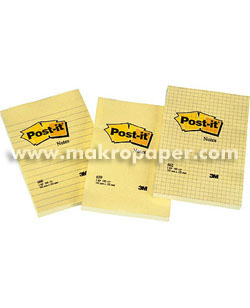 Blocs notas Post-it gran formato Amarillo Cuadriculado