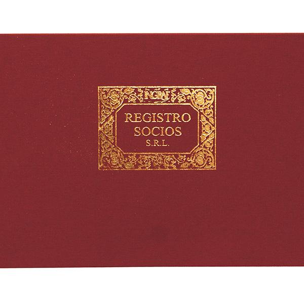 Libros de contabilidad y registro Registro socios SRL Fº Apaisado (100h.)