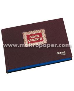 Libros de contabilidad y registro Cuentas corrientes 4º Apaisado (100h.)