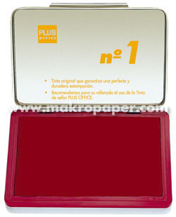 Tampón metálico para sellar nº1 100x170 Rojo