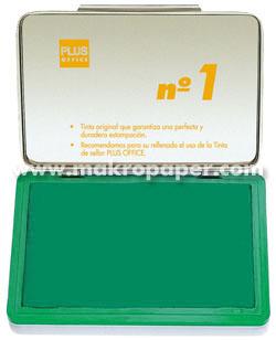 Tampón metálico para sellar nº1 100x170 Verde