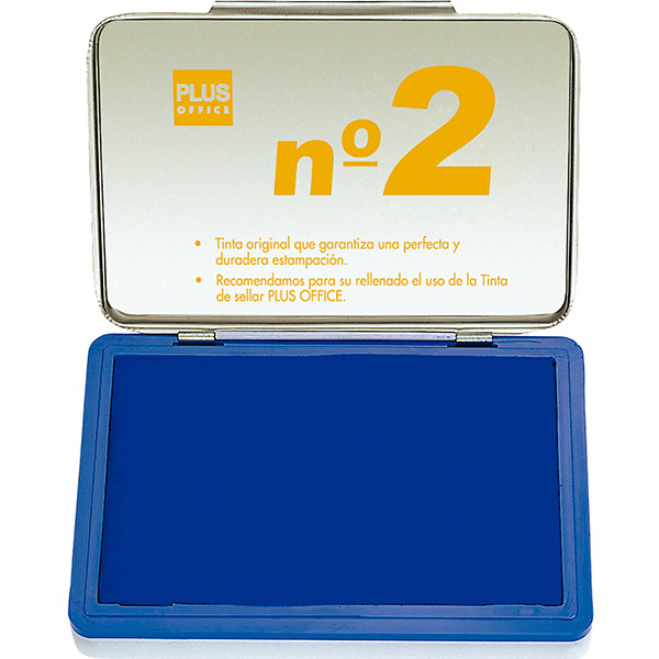 Tampón metálico para sellar nº1 80x120 Azul