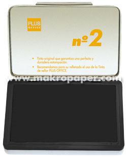 Tampón metálico para sellar nº1 80x120 Negro