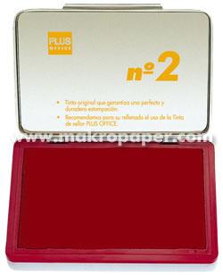 Tampón metálico para sellar nº1 80x120 Rojo