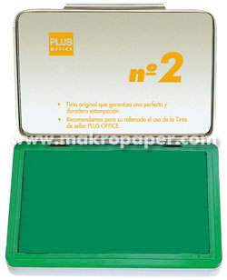 Tampón metálico para sellar nº1 80x120 Verde