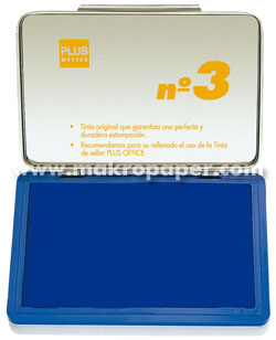 Tampón metálico para sellar nº1 50x100 Azul