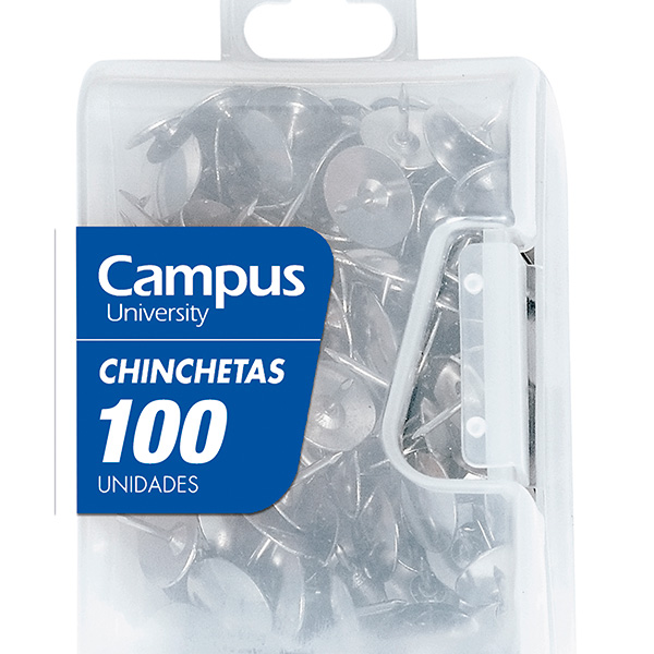 Chinchetas cromadas Campus University (100 uds./caja)