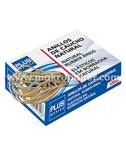 Gomas elásticas Makro Paper Nº10 Caja de 100gr. 100mm.