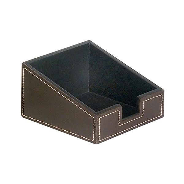 Portanotas Negro simil-piel 115x115x66
