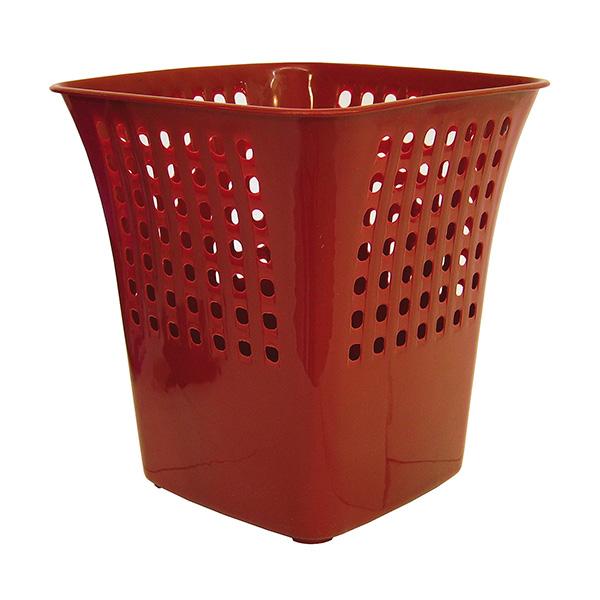 Papelera Makro Paper cuadrada roja