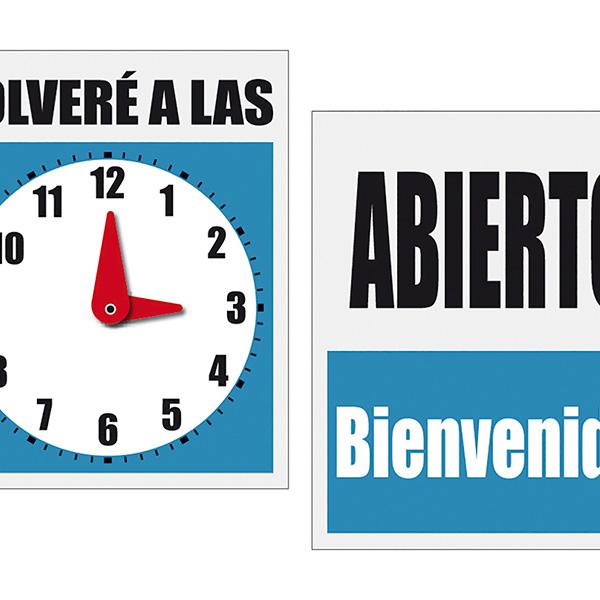 Cartel Abierto y Volveré Makro Paper