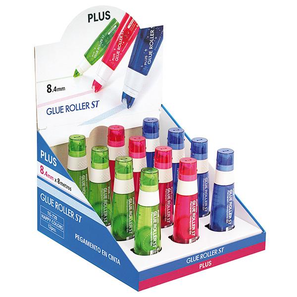 Pegamento roller Plus ST Happy Colors Expositor 12 unidades
