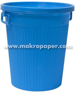 Papelera Plástico con aro y asas Azul