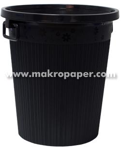 Papelera Plástico con aro y asas negra