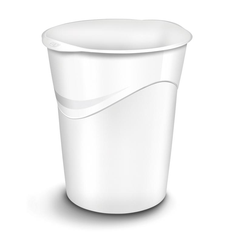 Papelera plastico gloss blanca 14 l.