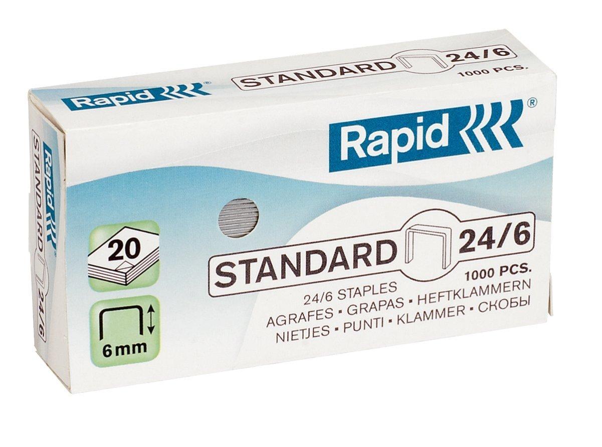 Grapas Rapid Super Strong 24/6 para grapadora Rapid 20EX (1000 unid/caja)