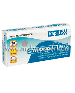Grapas Rapid Strong 26/6 para grapadora Rapid 20EX (5000 unid/caja)