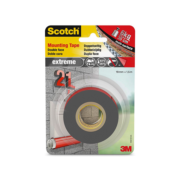 Cinta doble cara Scoth Magic 19mm x 15m Extreme VHB