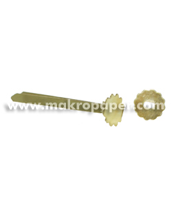 Encuadernador latón con arandela 25 mm