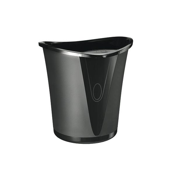 Papelera Allura negro 18 litros