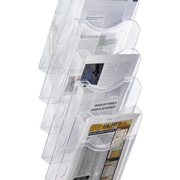 Expositor de pared A4 vertical 6 compartimentos