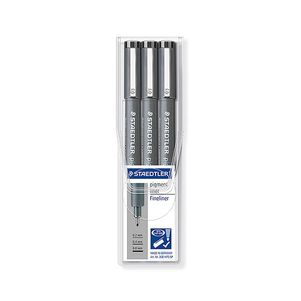 Rotulador calibrado Staedtler pigment liner Expositor (0,2-0,4-0,8)