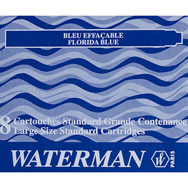 Cartuchos tinta Waterman azul florida
