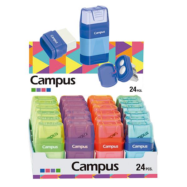 Afilalápiz Campus con goma y depósito 24u