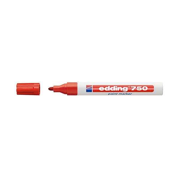 Rotulador permanente Edding 750 Rojo