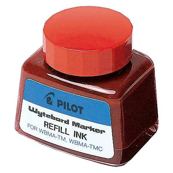 Tinta para marcador pizarra blanca de Pilot rojo 30 ml.
