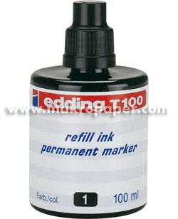 Tinta de rellenado para marcador Edding T-1000 Negro