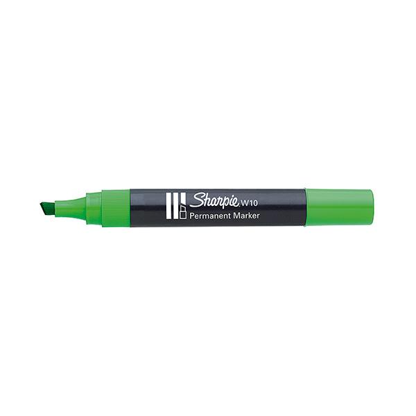 Rotulador Permanente Sharpie W10 Punta biselada Verde