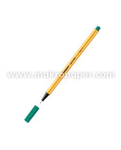 Rotulador Stabilo Point 88 de punta de fibra Verde tierra