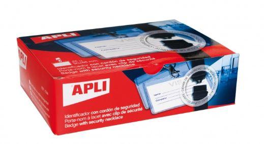 Caja 25 identificadores con cordón seguridad 90x56