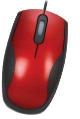 Ratón óptico usb rojo/negro