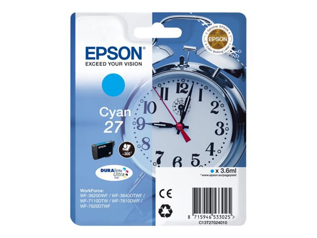 EPSON T270240 INK CIAN 27 3620/3640/7110/7610