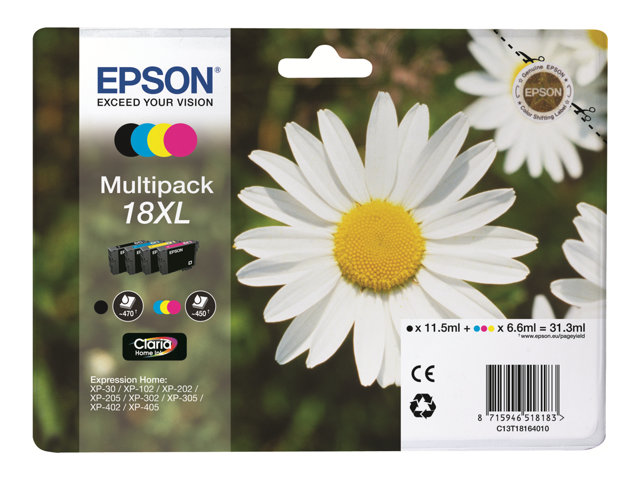 EPSON T181640 CARTUTX INY. TINTA 18XL MULTIPACK 4