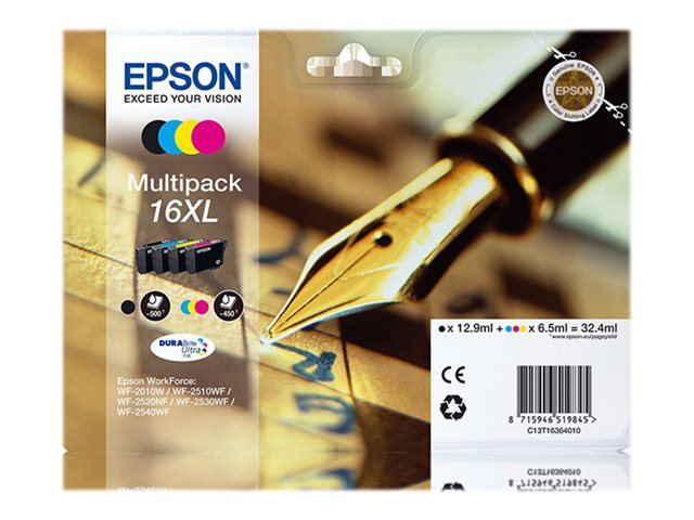 EPSON T163640 CARTUTX INY. TINTA NEGRE/TRIC. PACK4